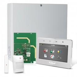 "INTEGRA 32 RF pack met zilver INT-TSG 4.3"" touchscreen bediendeel, RF module, draadloos magneetcontact en bewegingsmelder"