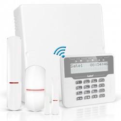 VERSA IP RF pack met wit proximity LCD bediendeel, RF module, draadloze multifunctionele detector en PIR