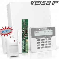 VERSA IP RF pack met wit LCD bediendeel, RF module, draadloos magneetcontact en 2x bewegingsmelder