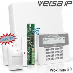 VERSA IP RF pack met wit draadloos LCD bediendeel, RF module,draadloos magneetcontact en 2x bewegingsmelder