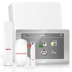 "VERSA IP RF pack met zilver INT-TSH 7"" touchscreen bediendeel, RF module, draadloze multifunctionele detector en PIR"
