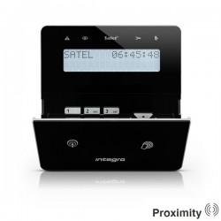 INT-KWRL-BSB - zwart draadloos LCD proximity bediendeel voor InteGra alarmsystemen