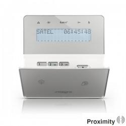 INT-KWRL-BSB - zilver draadloos LCD proximity bediendeel voor InteGra alarmsystemen