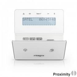 INT-KWRL-BSB - wit draadloos LCD proximity bediendeel voor InteGra alarmsystemen