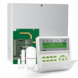 INTEGRA 32 RF pack met groen LCD bediendeel, IP module, RF module, multifunctionele detector en PIR